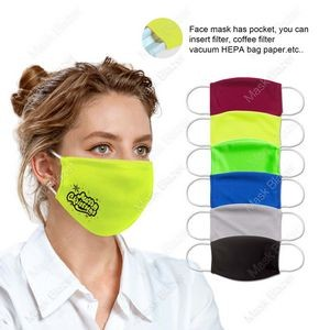 HOLIDAY Pure Color Moisture Wicking Face Mask with Filter Pocket- US Stock