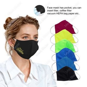 HOLIDAY 3D stereo profile Moisture Wicking Face Mask with Filter Pocket- US Stock